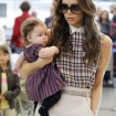 Victoria and Harper Beckham Are a Stylish Pair at LAX