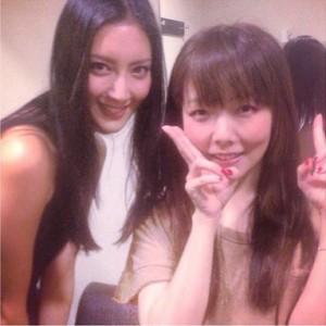 モデルの菜々緒(ナナオ)とアーティストaiko(あいこ)の整形組2ショット!奇跡の一枚www